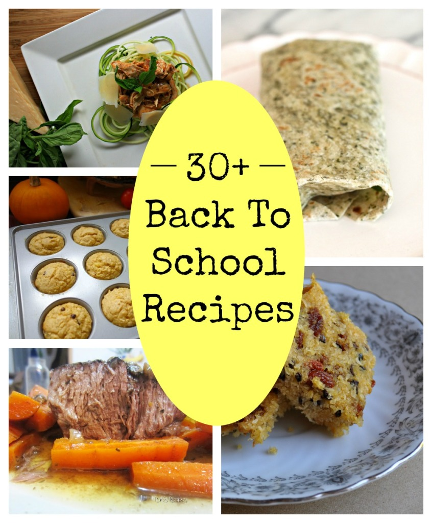 30+ back to school recipe
