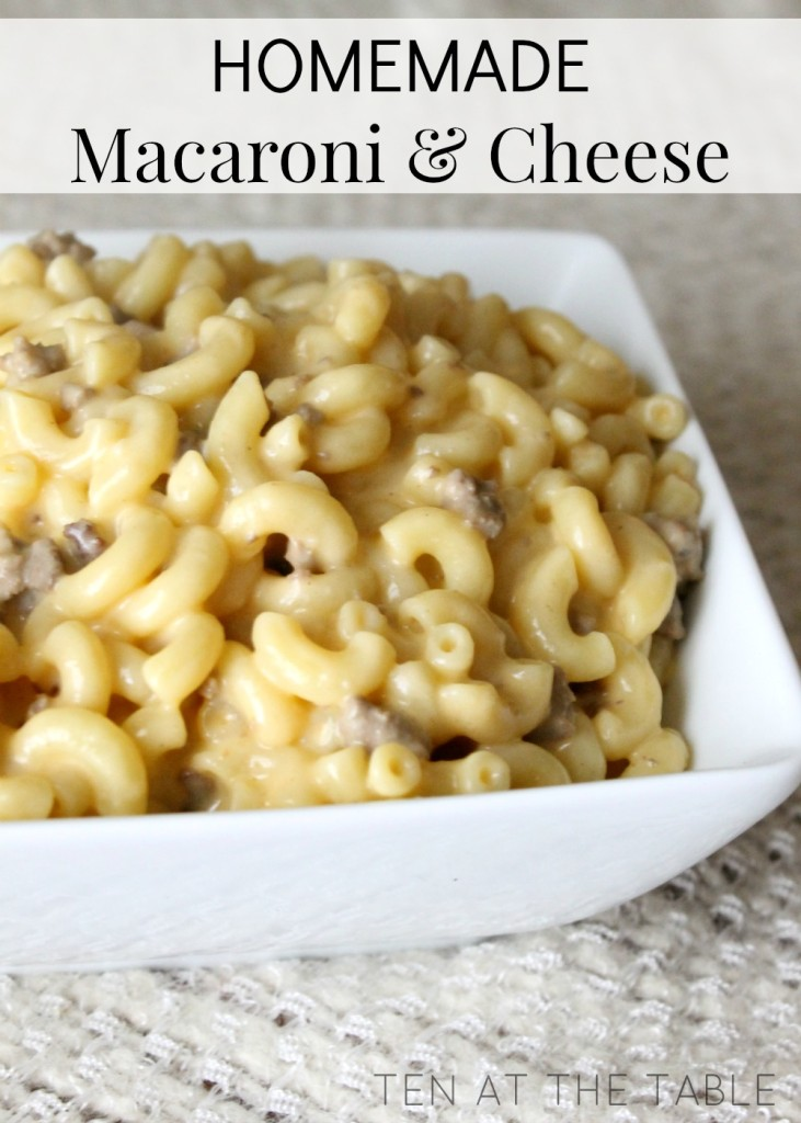 Homemade Macaroni and Cheese {Skip The Box} | Ten at the Table