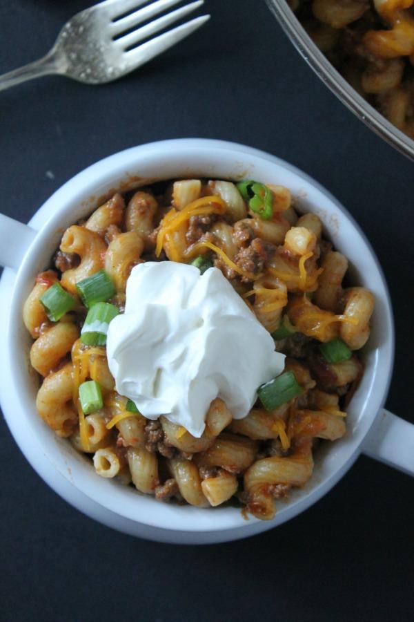 onepan enchilada pasta