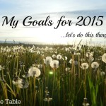 My Goals for 2015