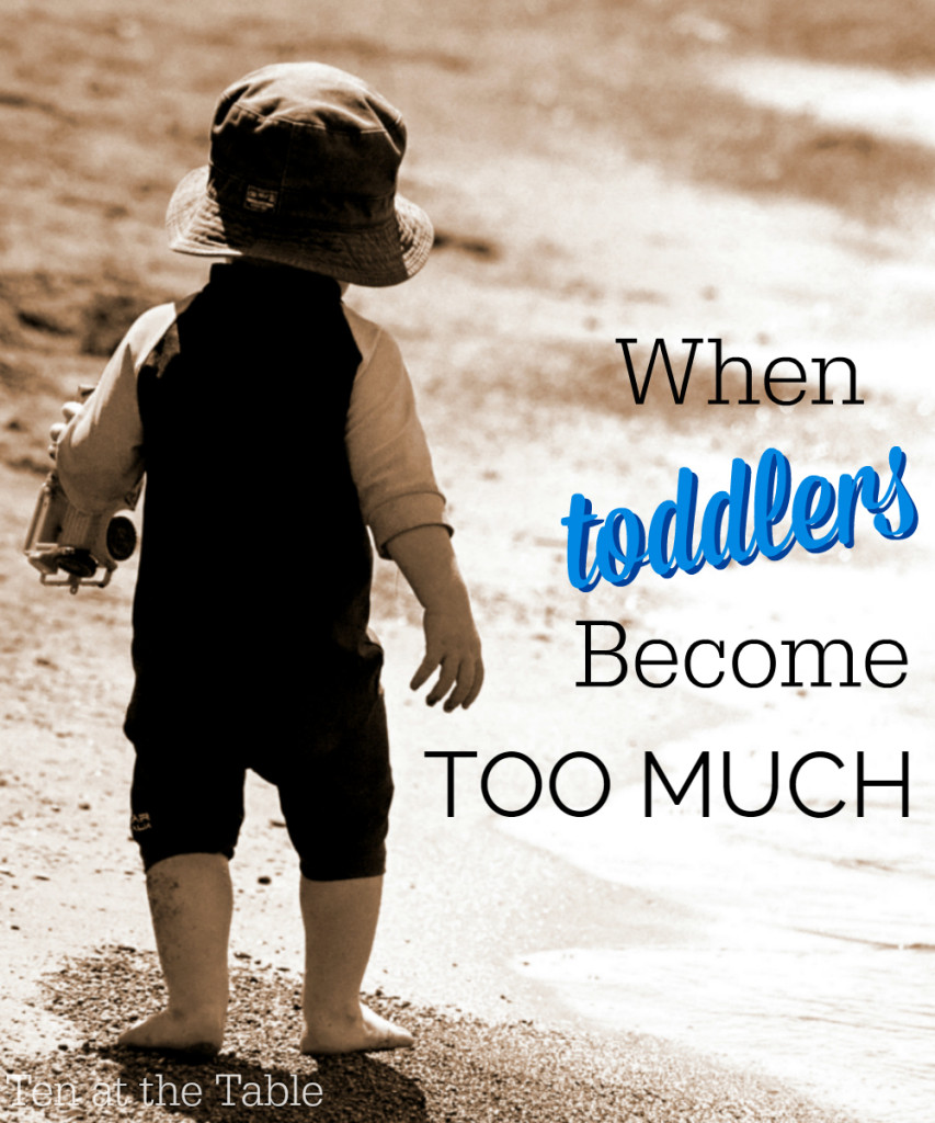 When toddlers become too much | Ten at teh Table | http://tenatthetable.com